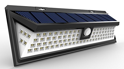 A great option for pool area fence stairs deck yard outside wall etc. It has a wide-angle Design with 3 LEDs on both the sides. Led lights spread equal ... & Solar Lights Sunlitec 90 LED Outdoor Motion Sensor Solar Lights ...