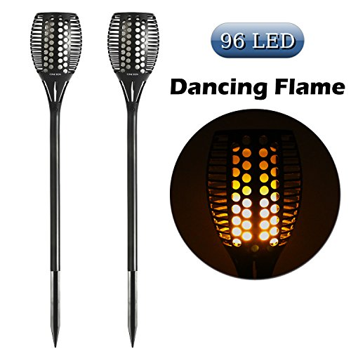 Cinoton solar path torches lights dancing flame lighting 96 led dusk cinoton solar path torches lights dancing flame lighting 96 led dusk to dawn flickering tiki torches outdoor waterproof billiard pool table lights2 pack greentooth Gallery