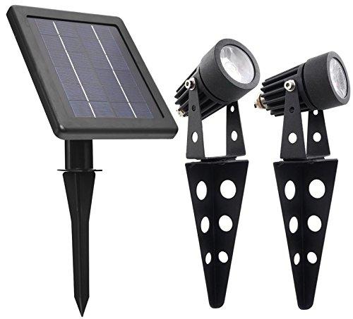 Dusk Dawn Black Outdoor LED Landscape Stake Light Flood Flagpole Spotlight Yard