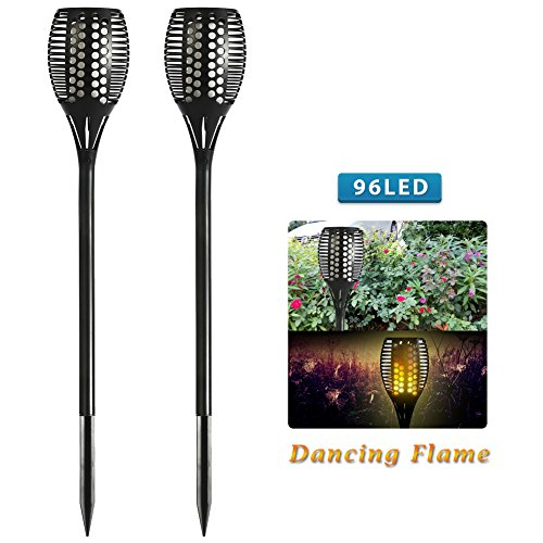 push the stake into the soil and they will come on at night and turn off at dawn weihao solar path torch light with gorgeous 96led dancing