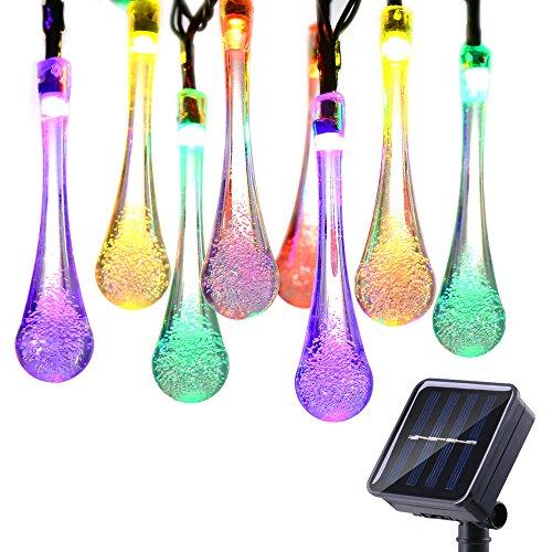 icicle halloween solar string lights 15 7ft 8 light modes 20 led
