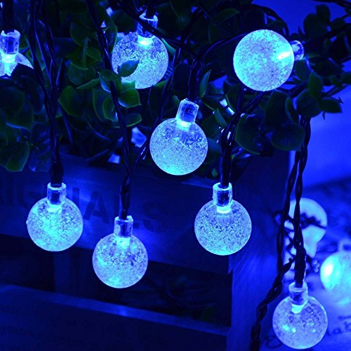 Icicle solar christmas lights 20ft 30 led solar string lights x1f385solar powered these led solar christmas lights decorate your garden with energy from the solar and do not require additional cost workwithnaturefo