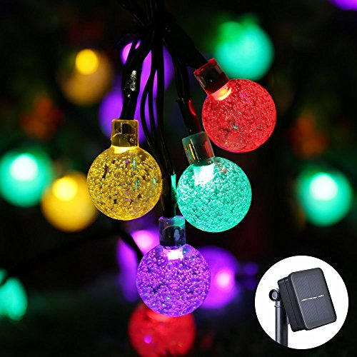 Icicle solar christmas lights 20ft 30 led solar string lights icicle solar christmas lights 20ft 30 led solar string lights outdoor globe fairy lighting for indooroutdoor patio lawn garden wedding party aloadofball Images