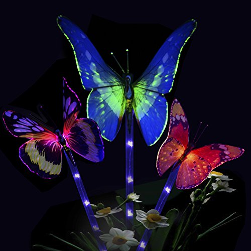 Lily Shaped Stake Light With 7 Color Changing. Beautifully Designed Solar  Lily Lights Molded With High Quality Material That Are Lightweight And More  ...