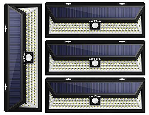 Litom Enhanced Version Solar Lights Outdoor 54 Led Super